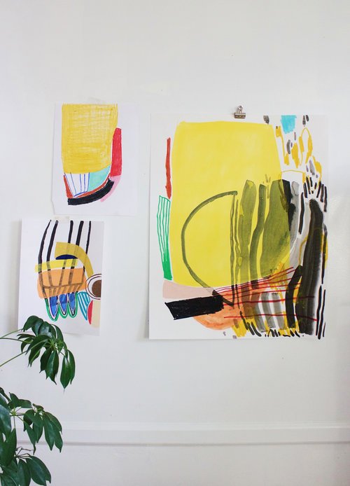 Meredith C. Bullock - Meredith's work explores loss and motherhood in abstract forms. She shares and sells her work primarily through her Instagram page. You can also contact Meredith through her website.