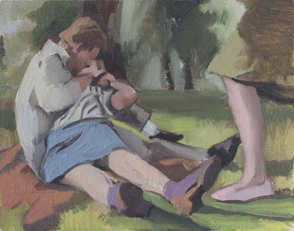 "the park  (study)  oil on canvas  6.25x8""  2012  purchase"