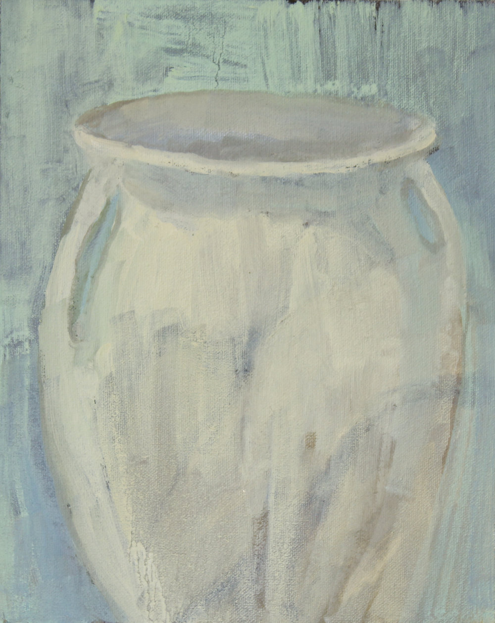 "great-grandmother's vase   oil on canvas  11x14""  2018   purchase"