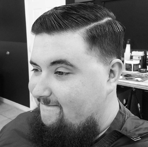 Comb Over + Part and Taper Fade - This is the most popular hairstyle in the last few years. It's a classic cut this hairstyle looks great on just about anyone. combine this with a low taper fade on the sides and back. It'll make it a perfect business professional haircut and a casual style.
