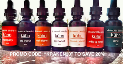 beard oil and balms by Kuhn