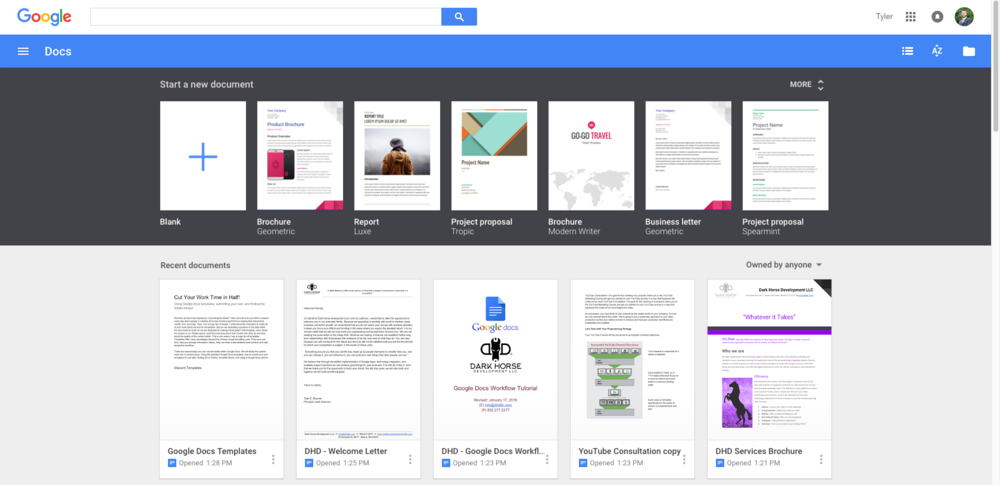 Cut Your Work Time in Half! Using Google Docs Templates — Dark Horse ...