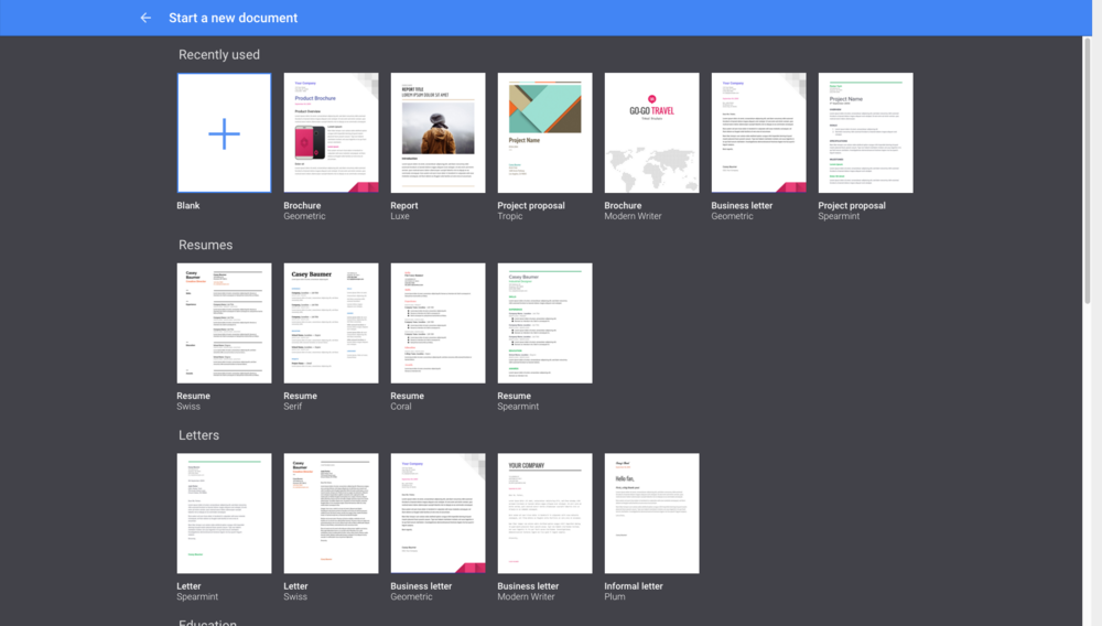 cut your work time in half using google docs templates dark horse