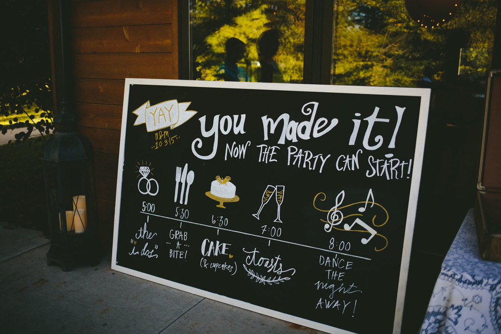 Flyover Design Co — Giant Chalkboard Wedding Timeline