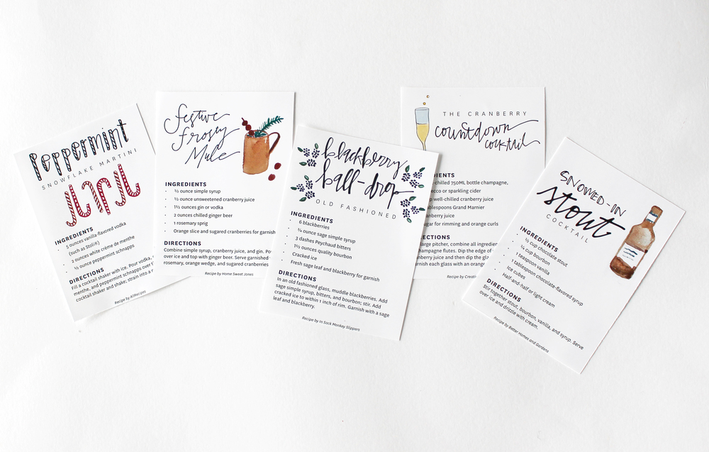 Cocktail Countdown #downloads #printable #free #cocktail | Flyover Design Co.