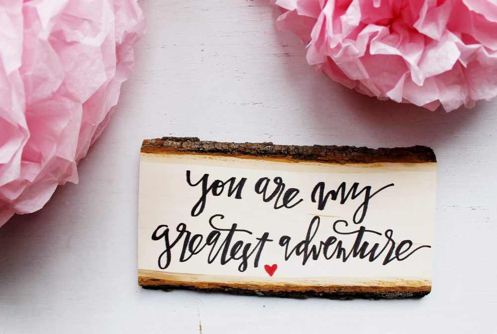 You Are My Greatest Adventure sign / quote / wedding / love quote / @flyoverdesignco