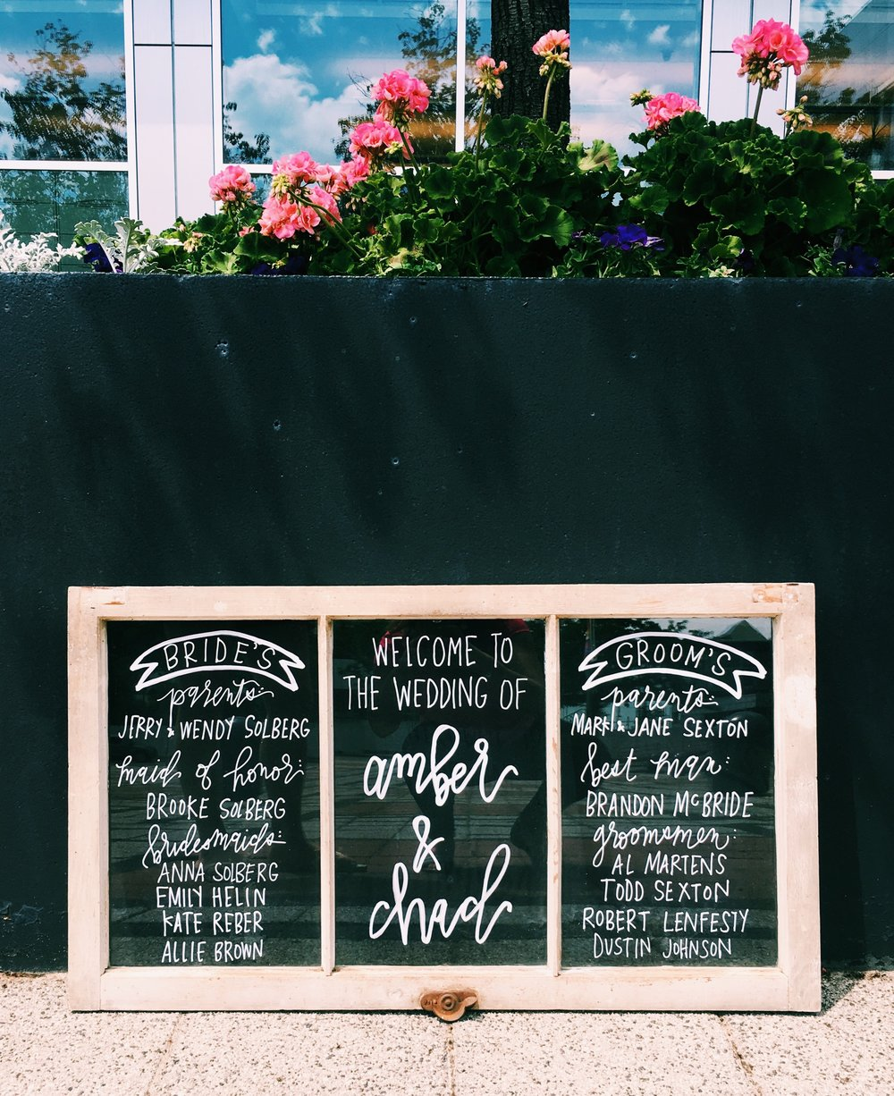hand-lettered-barn-window-tripanel-sign-calligraphy-welcome-wedding-signage-programonasign