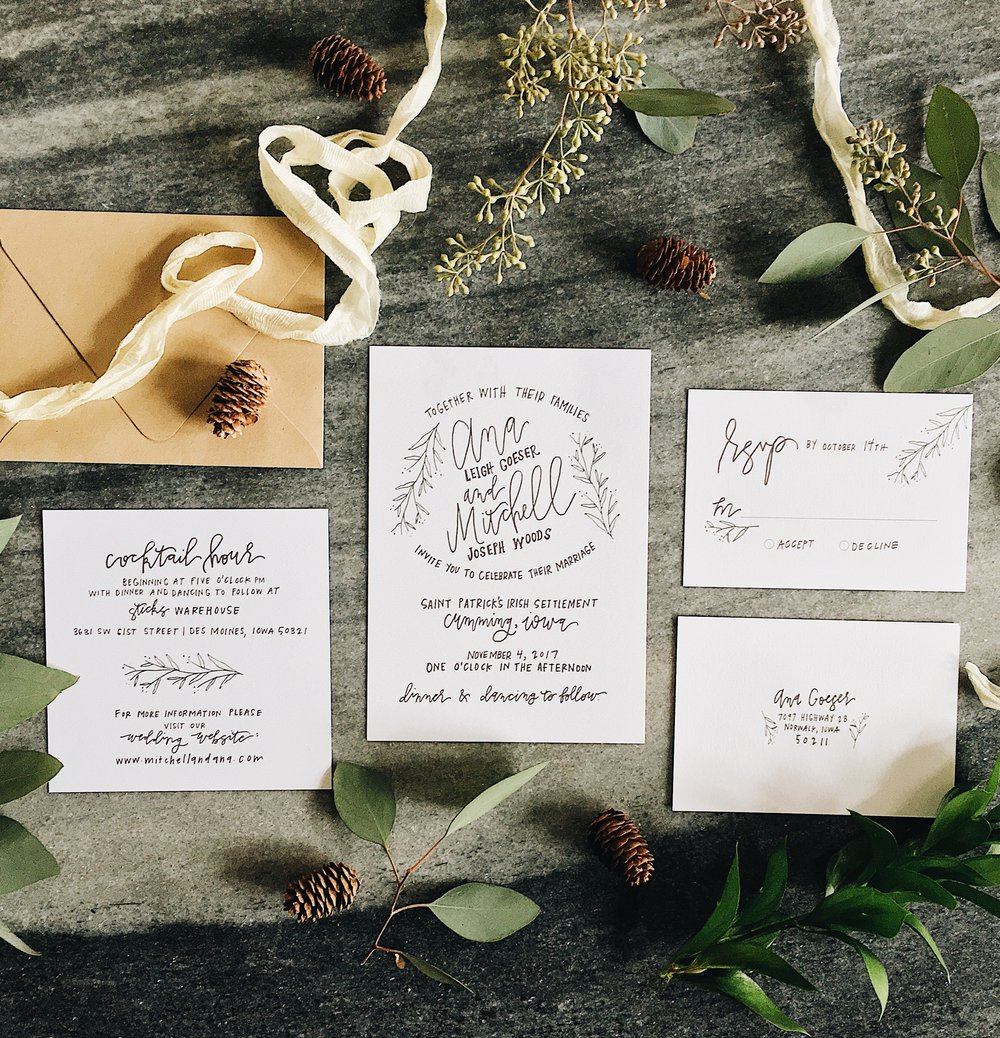 hand-lettered-greenery-invitation-calligraphy-whimsical-grey-neutrals-invitations-fall-weddingsuite-beautiful-calligraphy