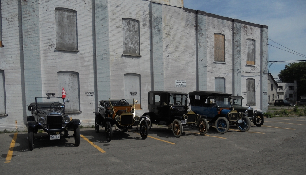 The south side of the museum welcomes visitors to downtown Oshawa and hosts car clubs throughout the year.
