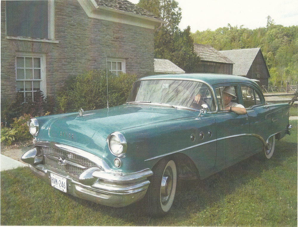 David Mitchell with his 1955 Buick Special in Peterborough, ON circa 2014