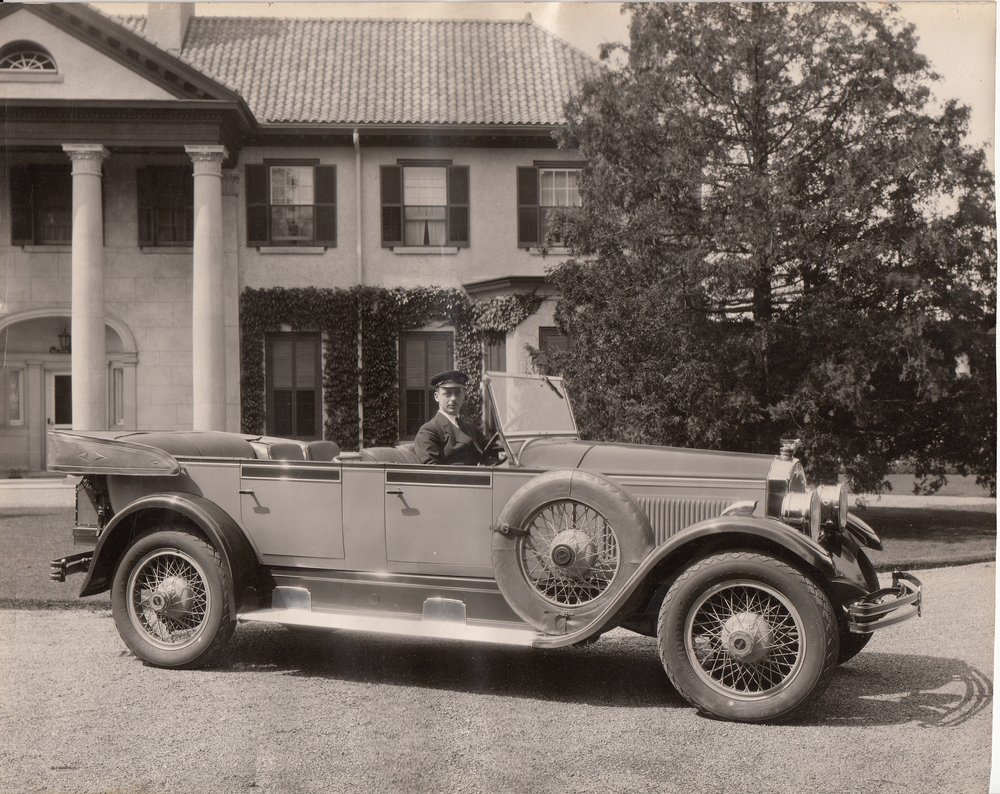 McLaughlin Buick in front of Parkwood Estate, Oshawa, Ontario circa 1920s
