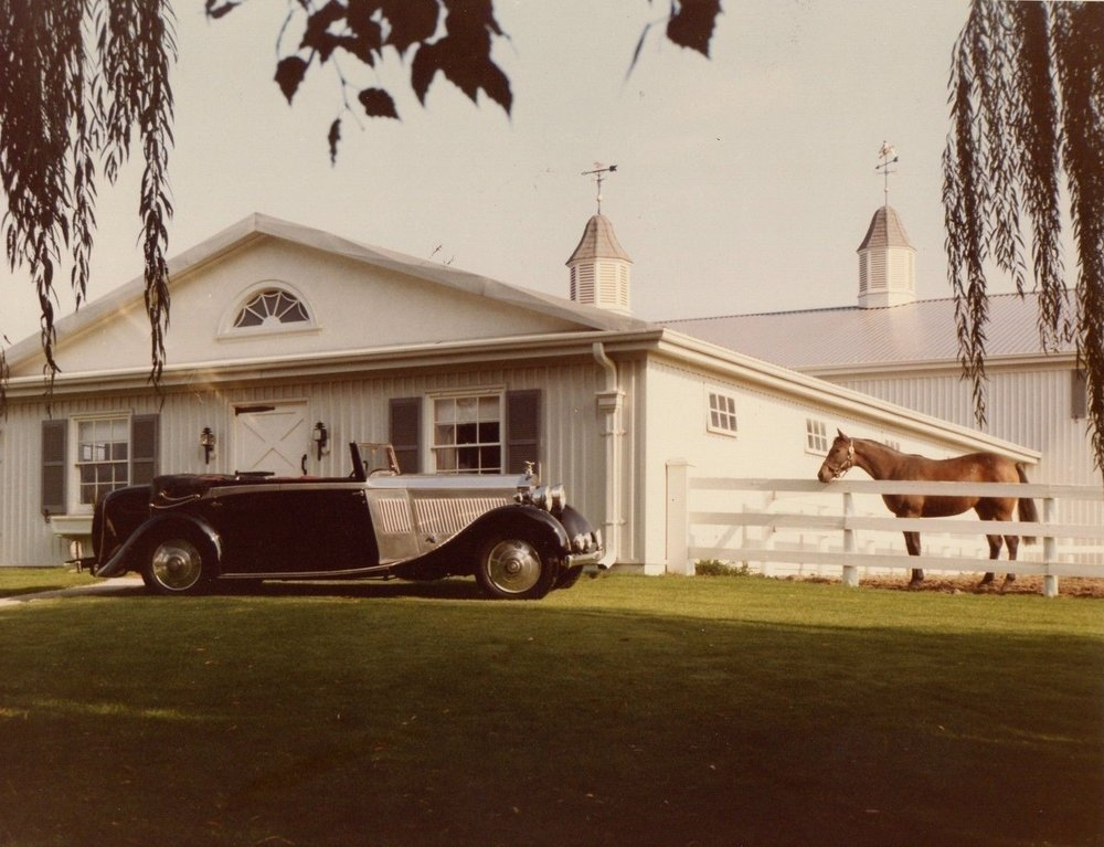1935 Rolls-Royce at Bud McDougald's Green Meadows Estate, North York, Ontario circa 1975
