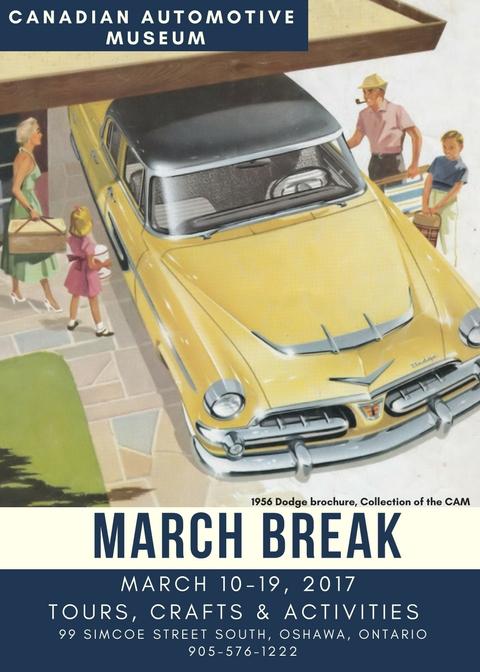 CAM March Break flyer