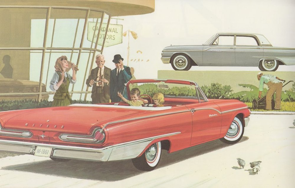 Promotional image of a Meteor Montcalm, 1961 . Collection of the Canadian Automotive Museum.