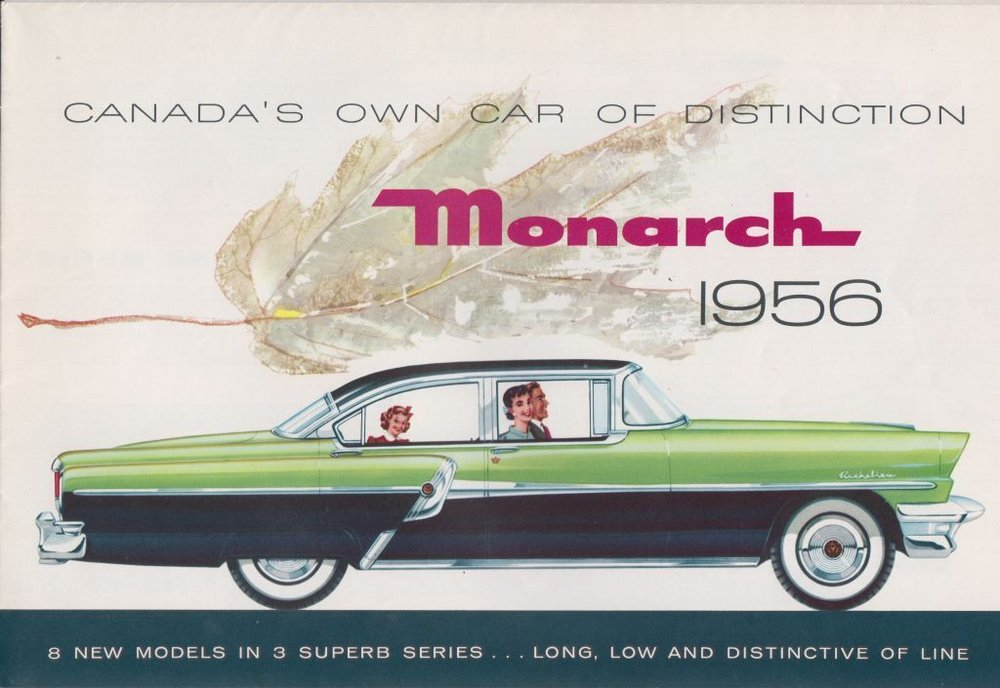 Promotional image of a Monarch, 1956 . Collection of the Canadian Automotive Museum.