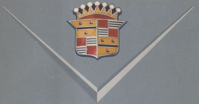 Cadillac logo, 1949 .   Collection of the Canadian Automotive Museum.