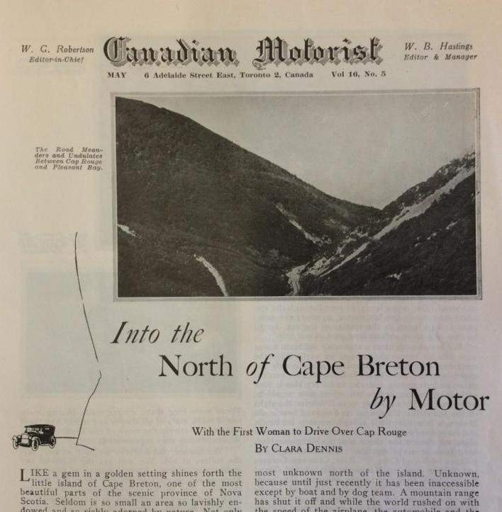 Canadian Motorist, May 1929. Collection of Canadian Automotive Museum