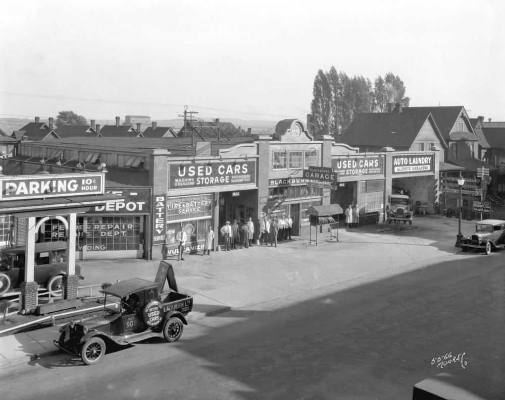 Blackburn's Service Station in Vancouver, B.C., 1928 . City of Vancouver Archives, AM54-S4-: Bu.N274.2.