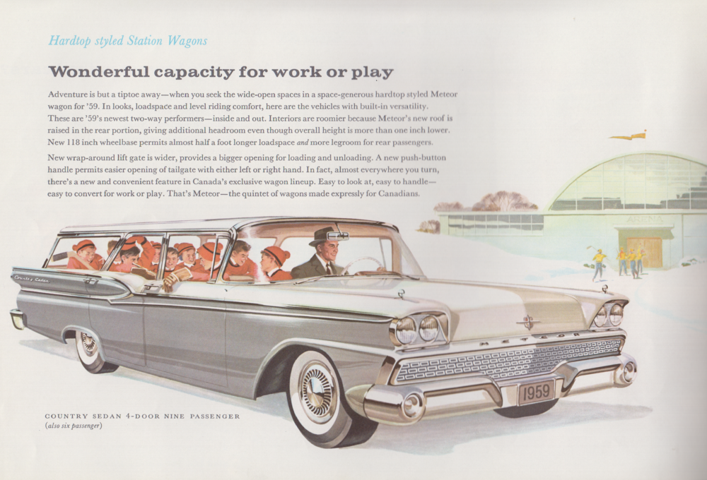 P Image promotionnelle de la Meteor, 1959. Collection du Musée canadien de l'automobile.