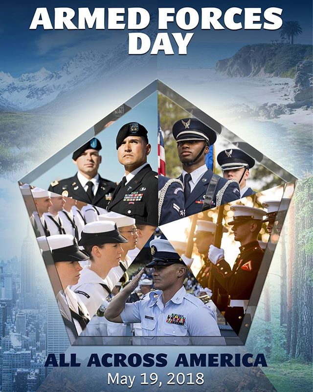 "Happy Armed Forces Day! Here's some history for the day: ""Armed Forces Day, Saturday, May 20, 1950, marks the first combined demonstration by America's defense team of its progress, under the National Security Act, towards the goal of readiness for any eventuality. It is the first parade of preparedness by the unified forces of our land, sea, and air defense."" - President Truman, in the Presidential Proclamation, 2/27/1950 Poster courtesy of AFDHistory, DOD. #armedforcesday #americanhistory #armedforces #toastahero"