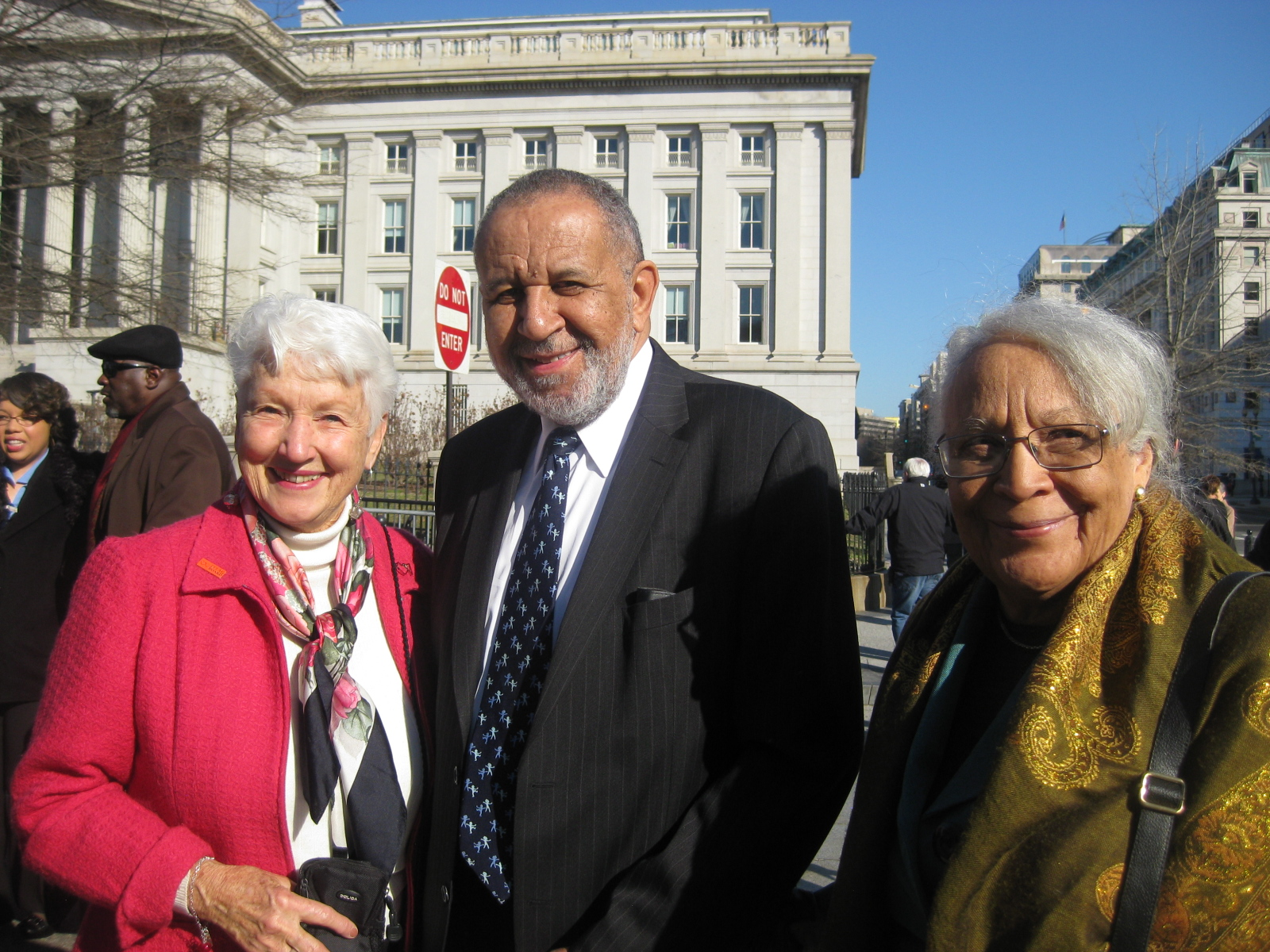 Jean Hodges, Vice-President of National PFLAG Board, with Gil and Grace after the Presidential Citizens Medal ceremony at the White House.