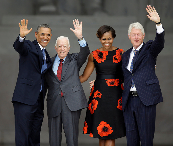 Barack Obama, Michelle Obama, Jimmy Carter, Bill Clinton
