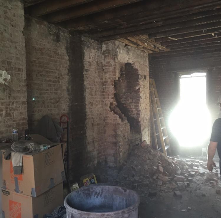 5 story chimney removal