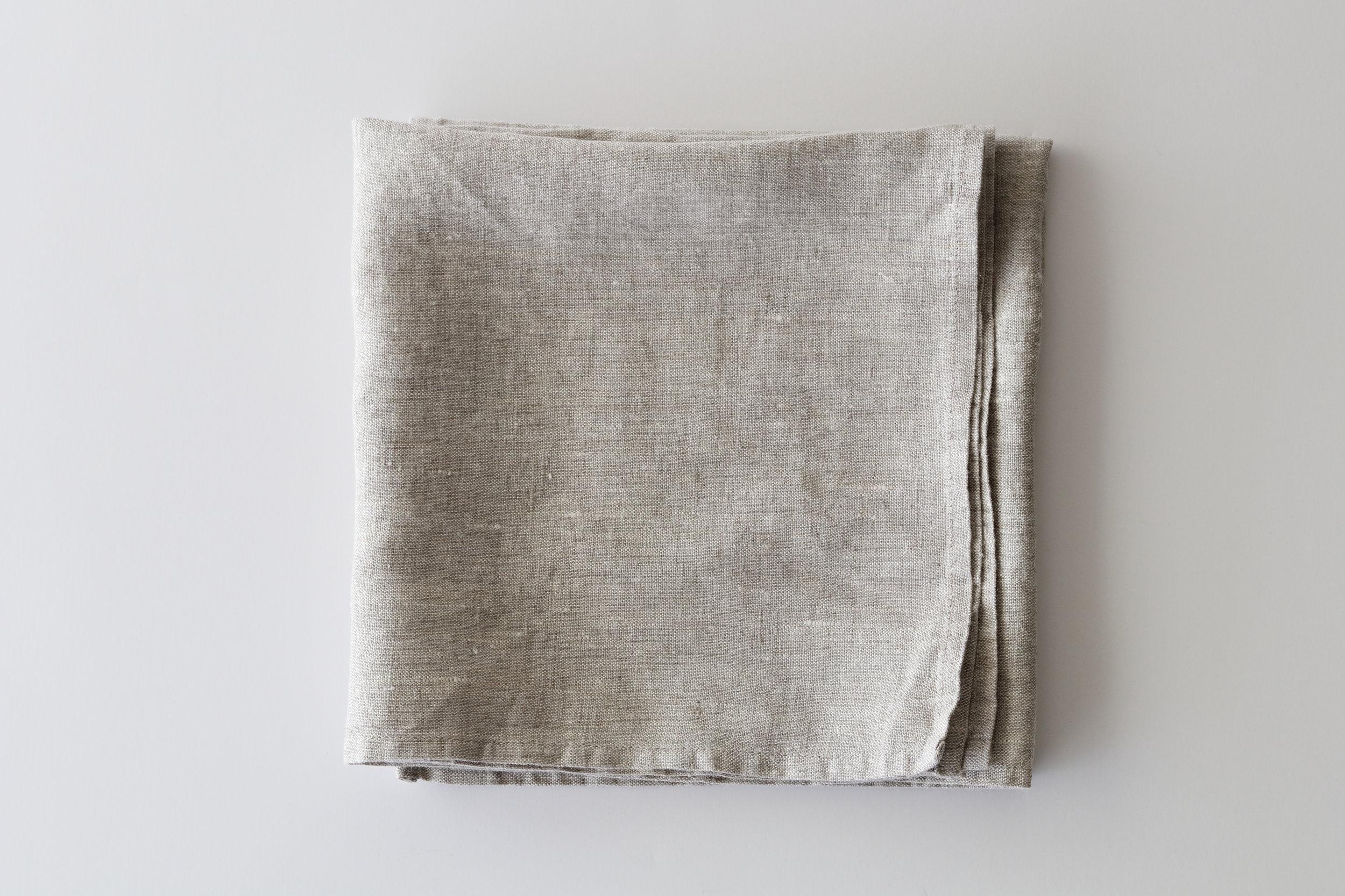 Heather Gray Linen Napkins Set Of 4 Or 6 Fold