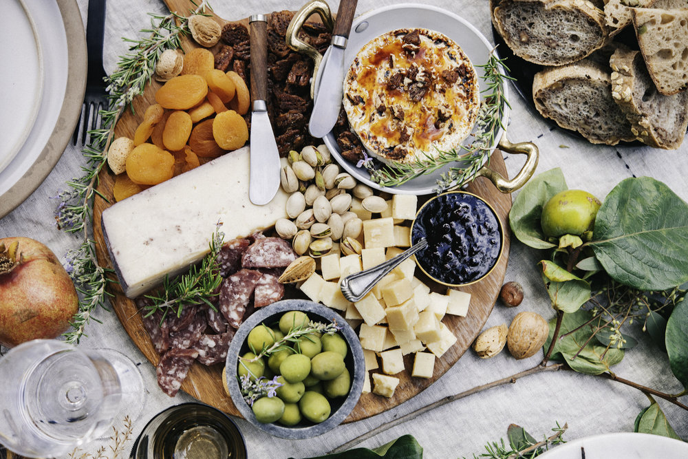 Becky of  Baking The Goods  put together an amazing array of flavors and textures (brie brûlée included) for this grazing board. Photo: Silas Fallstich.