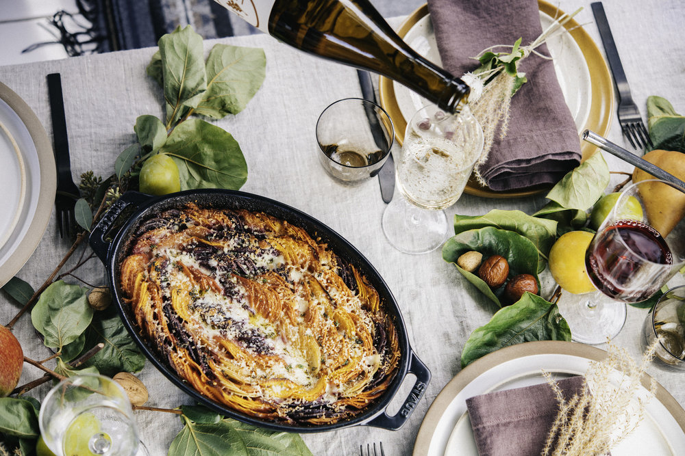 Talk about layers: Denisse's Root Vegetable Gratin (recipe on  Le Petit Eats ).