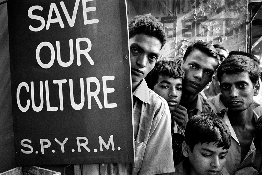 Youth from the stateless Urdu-speaking community (or Bihari community) demonstrate at a rally in Dhaka in 2006. In 2008, the community was granted Bangladesh citizenship after 35 years of being stateless.