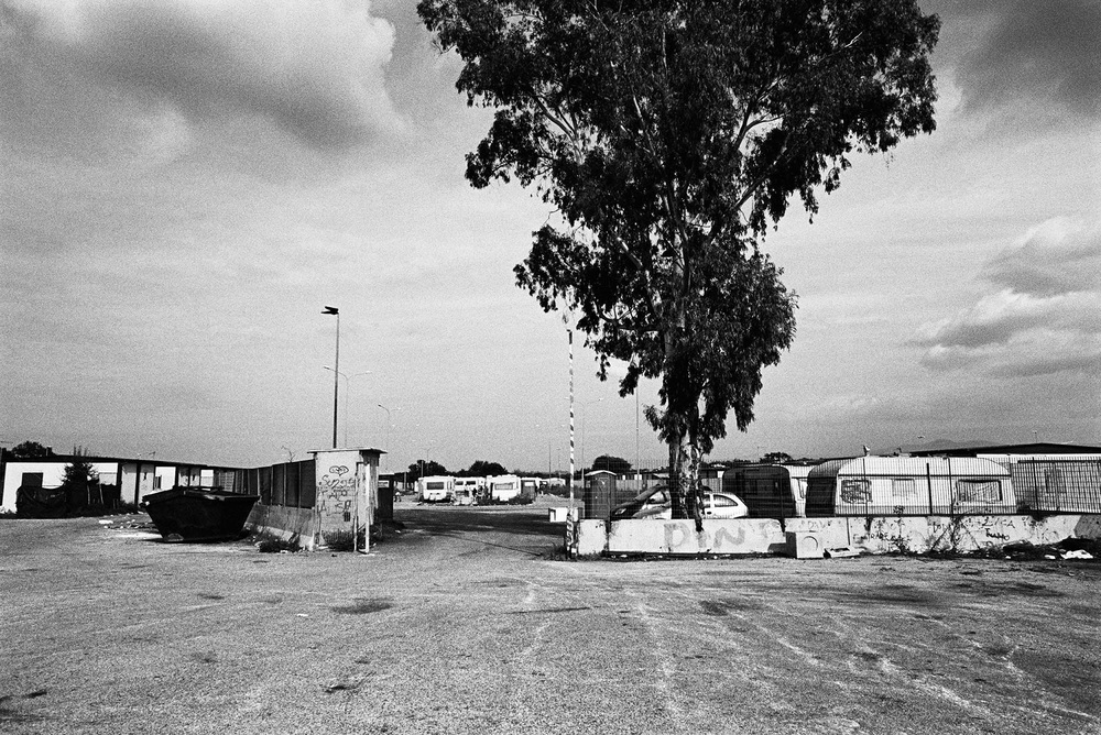 Roma camp outside of Rome.