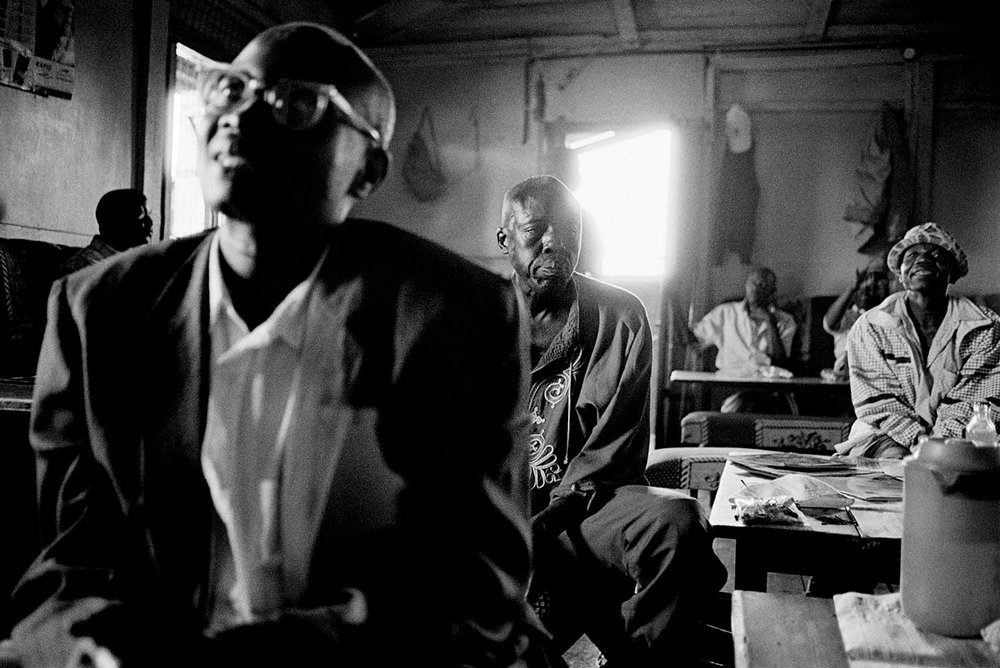 Nubian men gather at their social club in Makina.