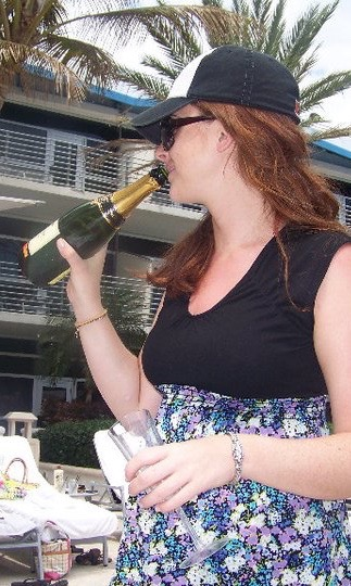 Yes, Past Tess.  Ordering a bottle of champagne for yourself at The Ritz-Carlton, South Beach is a great decision.  You could totally afford it back then.....