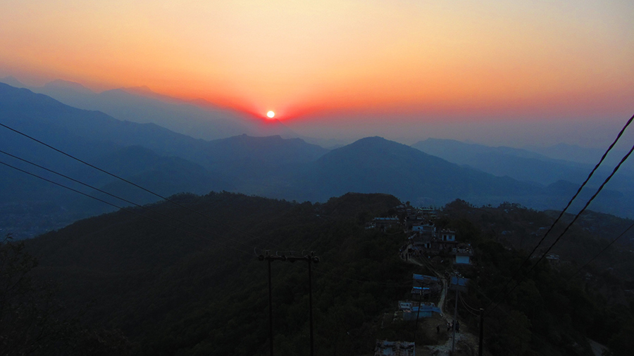 Sunrise over the Annapurna Range from Sarangkot, Pokhara