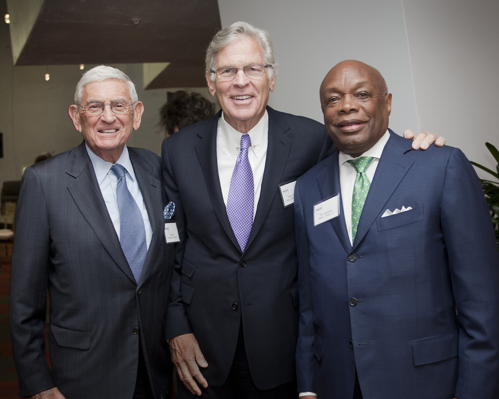 Nelson Rising with Eli Broad and Willie Brown