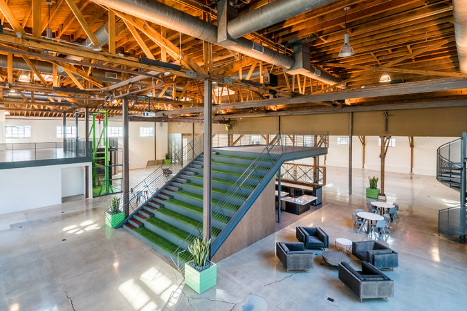 A former Hollywood prop warehouse at 720 North Cahuenga Boulevard has been transformed by the developer HQ Creative Office into a new type of office space.     CreditColey Brown for The New York Times
