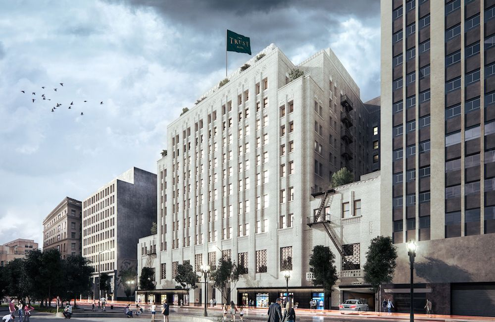 Rendering of The Trust Building post-restoration
