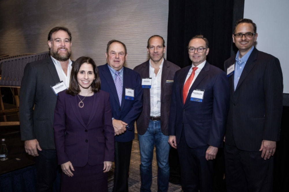 Photo Credit: Jon Endow, Commercial Observer; FROM LEFT TO RIGHT: CHRISTOPHER RISING, LORYN ARKOW, BOB HART, ARTURO SNEIDER, RICK VOGEL