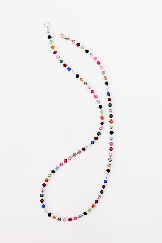 Multi Swarovski Crystal Necklace Cindy David Designs
