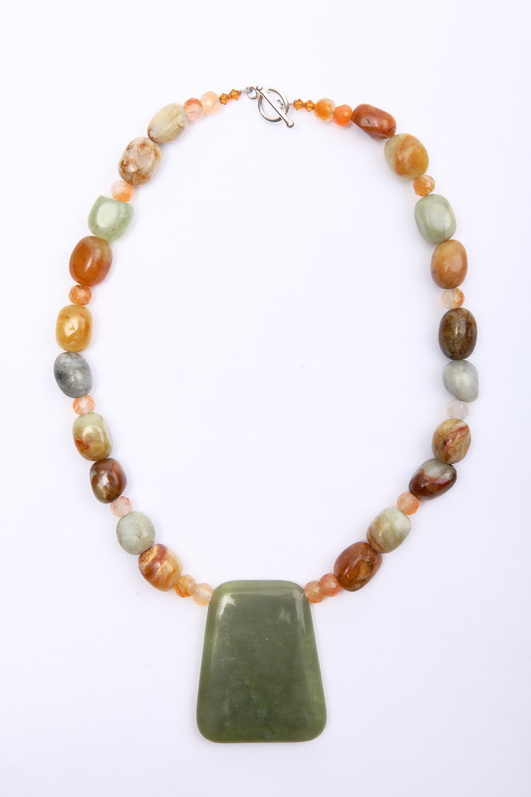 jade inlaid necklaces on sweater chain gold gemstone finish iced in item necklace green out pendant buddha jewelry from accessories wholesale gift natural