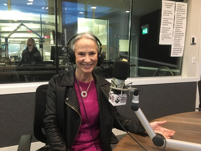 Anita Roberts at Roundhouse Radio 98.3 Vancouver for Pink Shirt Day 2017