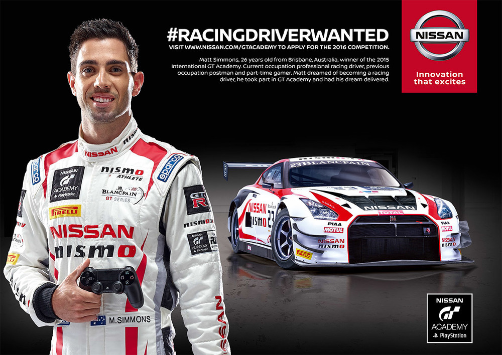 Matthew Simmons, winner of the Nissan GT Academy 2015