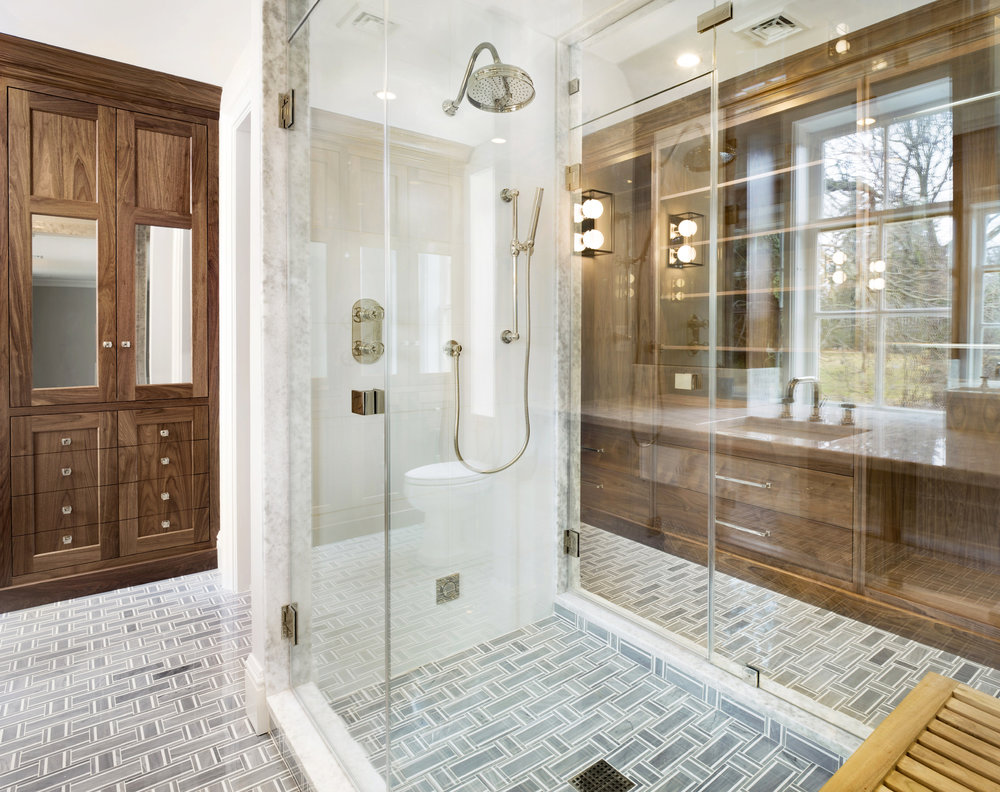 Shower design never ceasses to amaze me. Thursday's shoot included a few of them.