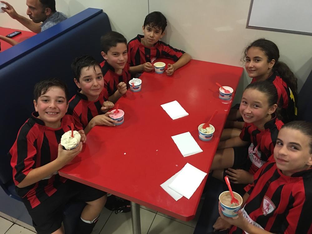U10 Junior lions celebrating end of summer futsal season