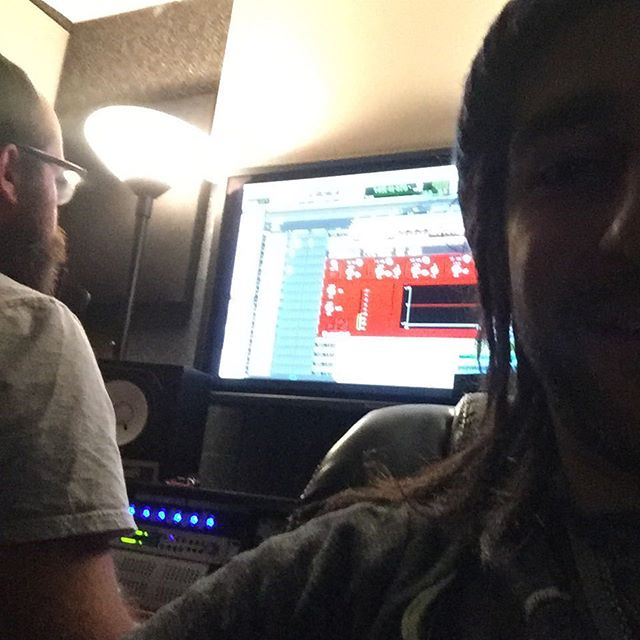 Mixing @thekeeprecording with the homie @chrissdreiling !!! Really excited to get some of this stuff out to everybody very soon!!! #kingfridaythe13th #newsongs #kfx3 #staythefuckintunewhileimplaying