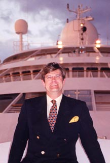 "Dr. Spooner on the Seabourn Legend for ADMAT's ""Excavating Shipwrecks"" lecture series."