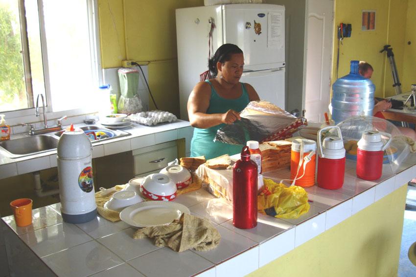 Cook Blanca prepairing a meal