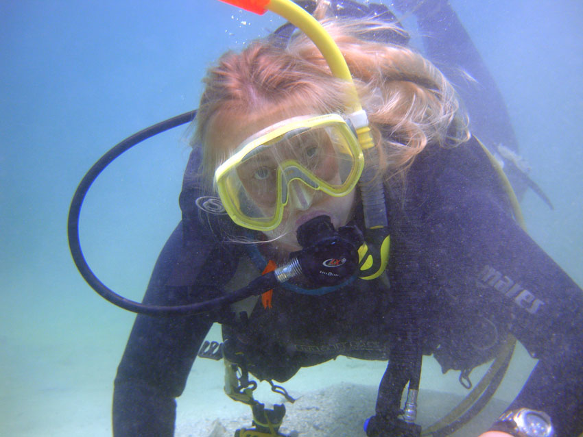 Co creater of ADMAT, Christine Nielson on the wreck site
