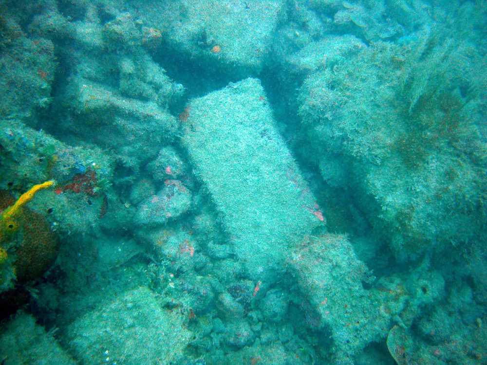 Some of the galley bricks on the Wreck Two site